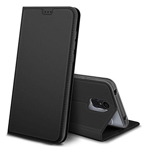 iBetter Alcatel 3C Hülle, Premium Tasche Cover Flip Hülle [Magnetic Closure] [Standfunktion] Schutzhülle Handyhüllen für Alcatel 3C Smartphone (Schwarz)