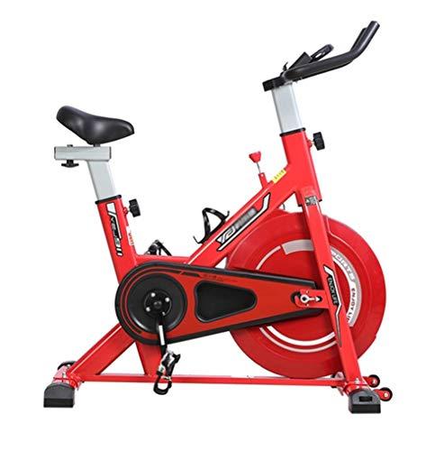 Extremes Sport-Bike, Smart APP-Anschluss, Herzfrequenzmessung, Edelstahl Mutet Schwungrad, Innen-Private Fitnessgeräte,Rot