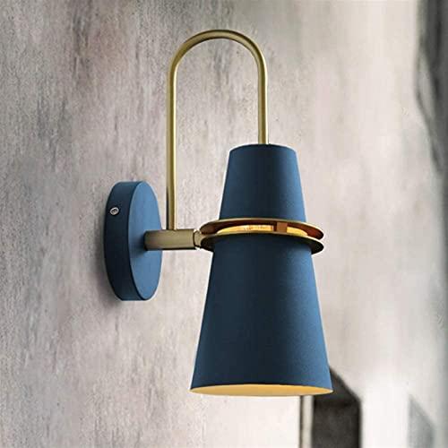 Lámpara de pared de moda Lámpara de pared de hierro nórdico Mirror E27 Base Postmodern Lámpara de pared Lujo Simple Personalidad Creativa Lámpara de pared Aisle Balcón Sala de estar Lámpara de pared d