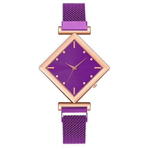 Relógio feminino clássico de quartzo AxiBa, relógio analógico dourado, relógio elegante e simples à prova d'água com pulseira de relógio de malha de aço inoxidável, relógio casual