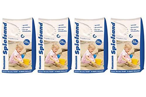 Hamann Spielsand Classic 100 kg Sack - Qualitäts Quarzsand - gesiebt - frei von Schadstoffen - gewaschen