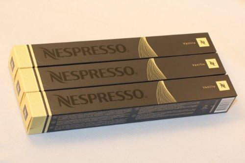 Nespresso Kapseln Vanille - gelb beige vanille 30 Kaffeekapseln 3 x 10 Kapseln Vanilio Espresso