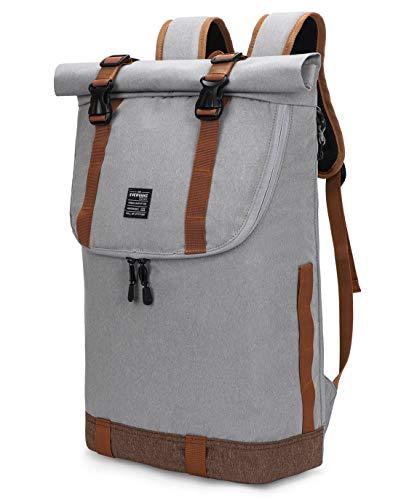 EverVanz Mochila para Laptop, Mujer &Hombre Enrollable Resistente al Agua, Viajes,Mochila...