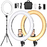 19 Inches Ring Light Kit, SAMTIAN Dimmable LED Selfie Ring Light with 78'' Light Stand Carrying Bag Phone Holder 3200-5900K Photography Camera Video Lighting for TikTok,YouTube,Vlog,Live Streaming