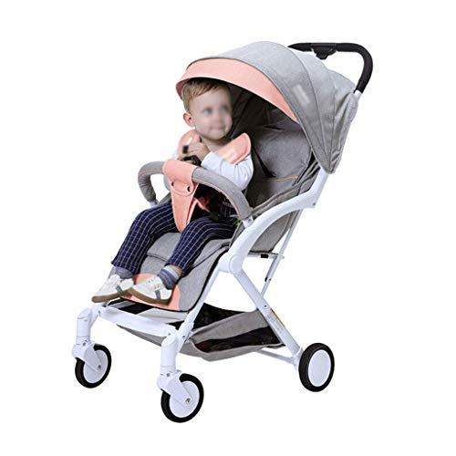 min min Cochecitos reclinados y sentados Carrera de bebé para bebés Ultra Light and Portable Baby Cart La colección de una tecla se Puede Plegar 0-3 años (Color: C) (Color : D)