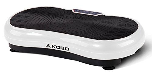 Kobo Steel 200W Vibration Plate Crazy Fit Massage Exercise Machine Oscillating Platform Massager with Remote (White)