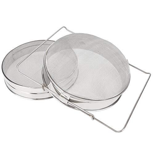 Nikou Miel Passoire, 2Pcs en Acier Inoxydable Double Couche Sieve Miel Passoire Apiculture Miel extracteur Filtre