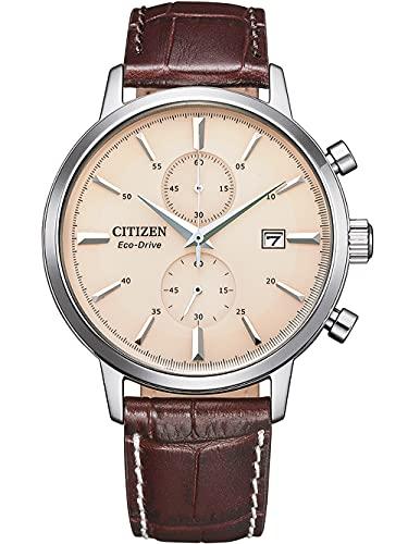 Citizen Eco-Drive Solar-Herrenuhr Chronograph Braun/Beige CA7061-26X