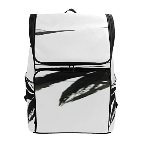 Bamboo Forest Traditional Chinese Calligraphy Art Cute Daypack Hiker Backpack Adult Daypack Girls School Bagfits 15.6 Inch Laptop And Notebook Best College Bags