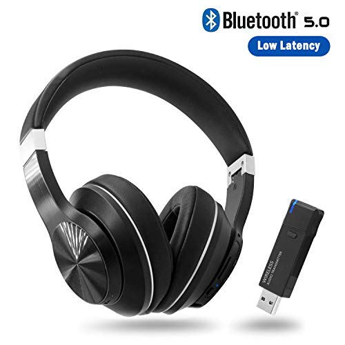 Giveet Wireless Gaming Headset Set w/USB Audio Dongle for PS4 PC, Bluetooth HI-FI Stereo Headphones w/Noise Canceling Mic for Laptop Nintendo Switch, Plug n Play, Fast Connection, No Audio Delay