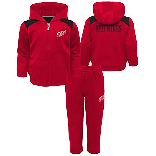 Outerstuff NHL Kids Catcher Performance Hoodie & Pants Set (7, Detroit Red Wings)