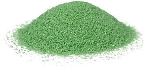Heku 30330-17-Arena decorativa (750 g, en lata reutilizable), color verde, arena, 750g / Körnung 0,1mm