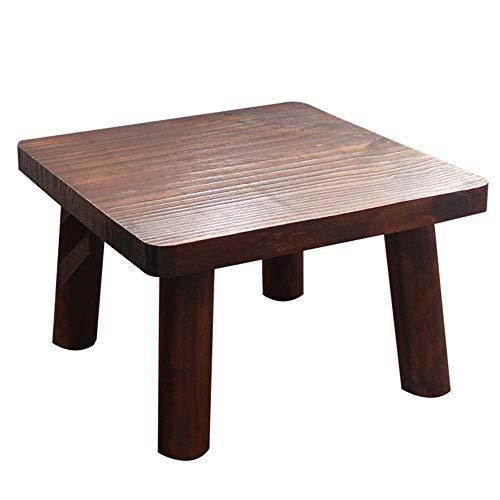 JIEER-C stoel voetenbank kleine bank Geschikt voor de ouderen, kinderen badkamer kruk dikke plaat massief hout salontafel kruk binnen en buiten 4 maten (kleur: bruin, grootte : 35x35x25cm) 45x45x30cm BRON
