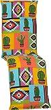 Beo Relaxsessel Auflage Waschbar Turin | Made in EU Premium-Qualität | UV-beständige Liegestuhl Auflage nach Öko-Tex Standard | Atmungsaktive Relaxstuhl Auflage mit Mexiko-Muster in Gelb