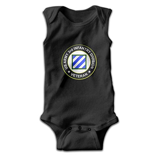 Klotr US Army 3rd Infantry Division Veteran Newborn Infant Baby Sleeveless Bodysuits Rompers Outfits