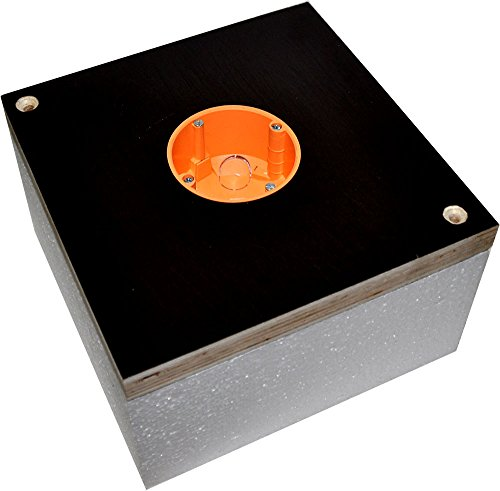 Montagequader WDV/WDVS bei Fassadendämmung für Steckdosen oder Schalter (Bei Dämmung 100mm)