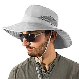 TOSKATOK Unisexe pour des Hommes Dames Poids Léger Pliable Engrener Respirant Large Bord Outback Été Safari Chapeau…
