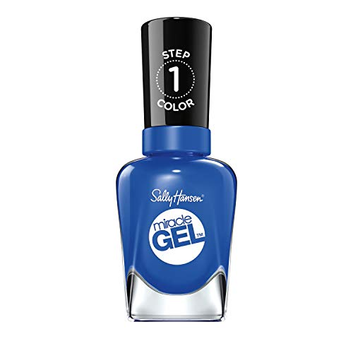 Sally Hansen Miracle Gel Nail Polish At-home gel manicure, 36 Tidal Wave, Blue Shades - 14.7 ml