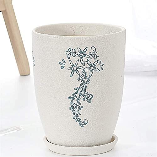 Autumnpoplar Keramische potplantenbekkens Kamer, bloempot, balkon, minimalistische creatieve gratis bloempot, wit, gat, cactus bloempot