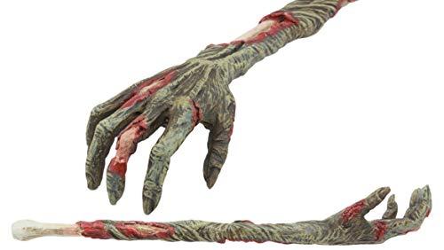 Ebros Gory Zombie Rascador de espalda Figura de 38 cm de largo Zombie Walker Réplica de brazo con estatua de carne podrida y huesos