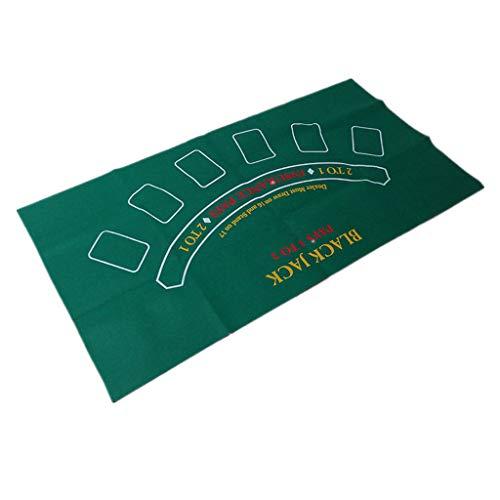 S-TROUBLE Nappe de Jeu Non tissée Double Face Roulette Russe et Tapis de Table de Jeu Blackjack Jeu de société 120 * 60 cm