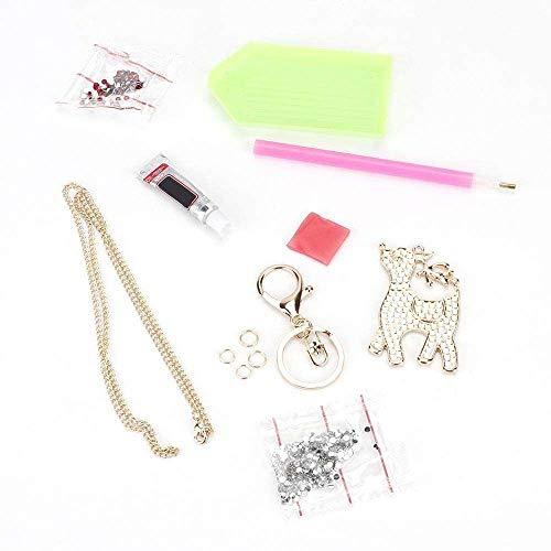 YuKeShop DIY Jewelry Making Kit-Deer-Shape DIY Girls Jewelry Making Kit Necklace Pendant and Bracelet Crafting Set Party