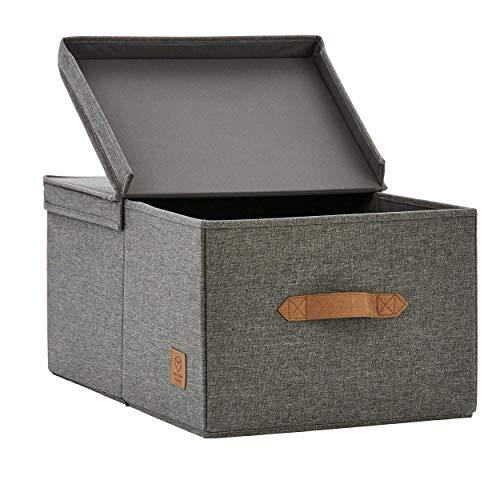 STORE.IT Premium Home Storage | Aufbewahrungsbox mit Klappdeckel | 50 x 33 x 24 cm | MDF verstärkt
