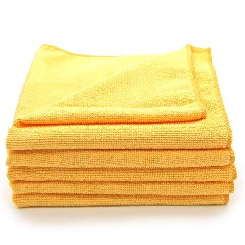 PRETEX 5-delige set microvezeldoeken met 300 gsm, absorberend, bijzonder zacht, lakvriendelijk, reinigingsdoek, polijstdoek, multifunctionele doek