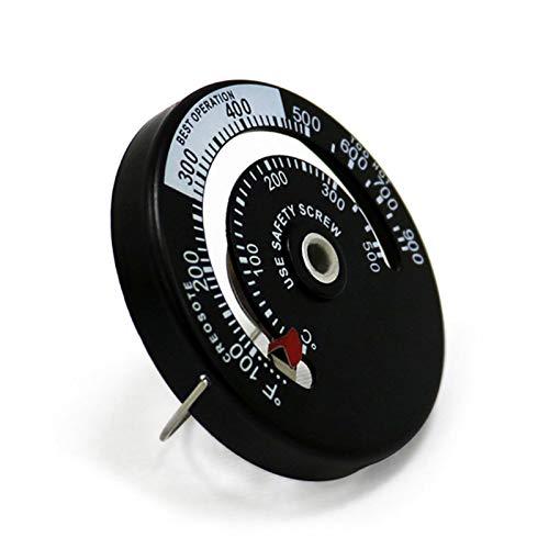 Termómetro magnético para estufa - Medidor de temperatura del horno para estufas de leña - Estufas de gas Estufas de pellets Evite que el ventilador de la estufa se dañe por sobrecalentamiento