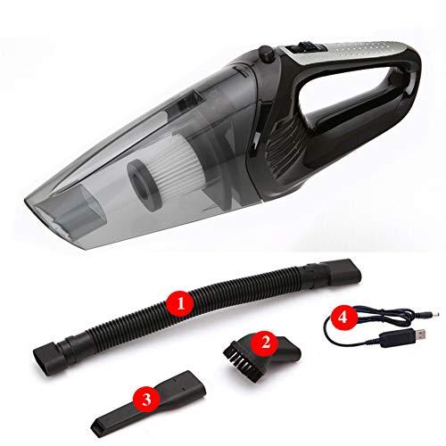 LYHD Portable Car Vacuum Cleaner, High Power Corded/Cordless Handheld Vacuum - Best Car & Auto Accessories Kit for Detailing and Cleaning Car Interior