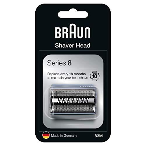Braun Series 8 83M Testina Di Ricambio Per Rasoio Elettrico Uomo, Argento, Compatibile Con I Rasoi Series 8
