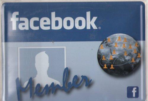 Plaque Metal Serigraphiée 15X21cm Facebook Member