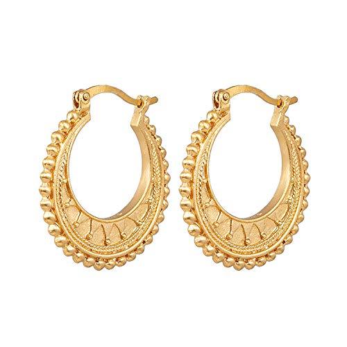 Satya Jewelry Damen Creolen Interwoven Gold Hoop Ohrringe - Mandala Kollektion 18 Karat vergoldet - SUEG4g