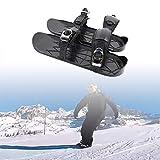CZYSKY Mini Zapatos De Patinaje De Nieve, Mini Zapatos De Esquí Al Aire Libre, Zapatos De Esquí Ajustables, Equipo Portátil De Esquí De Invierno, Esquí De Fondo Al Aire Libre,1 PCS