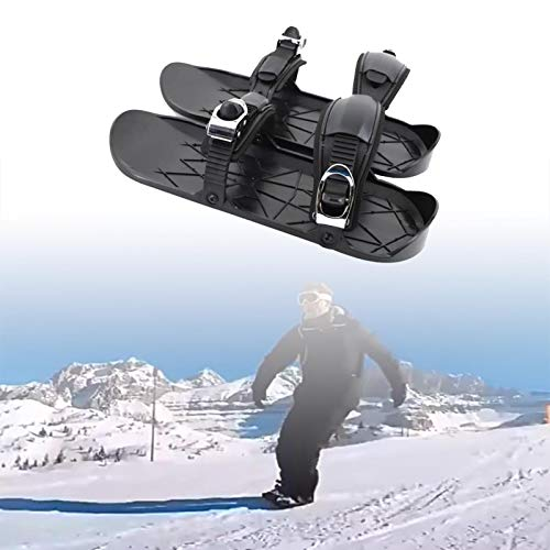 XMYING Mini Zapatos De Patinaje De Nieve, Mini Zapatos De Esquí Al Aire Libre, Zapatos De Esquí Ajustables, Equipo Portátil De Esquí De Invierno, Esquí De Fondo Al Aire Libre,A,2 PCS