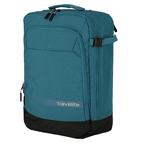 Travelite Handgepäck Rucksack / Tasche erfüllt IATA Bordgepäck Maß, Gepäck Serie KICK OFF: Praktischer Rucksack für Urlaub und Sport, 006912-22, 50 cm, 35 Liter, Petrol