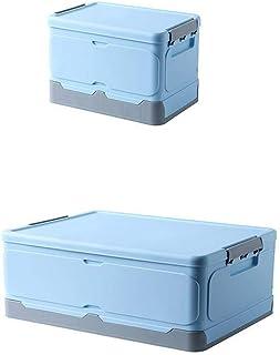 Onlyup Panier de rangement pliable avec couvercle - Boîtes de rangement empilables pour jouets, vêtements, livres - Bleu