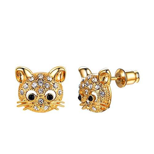 Pendientes chapado en oro 18 k pendientes dorados para mujer regalo para...