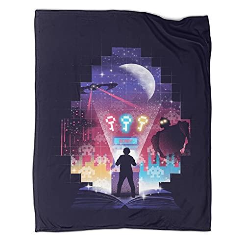DRAGON VINES Manta de animación de cine con tres llaves ocultas, suave y cómoda, manta de lana ligera para viajes y playa de 80 x 100 cm