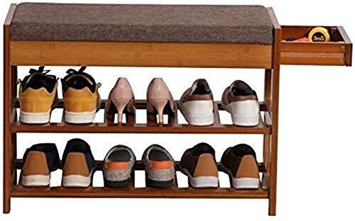 QZMX Estante de Zapatos Estante del Zapato Estante del Zapato de bambú, Estante (Color : Simple-2)