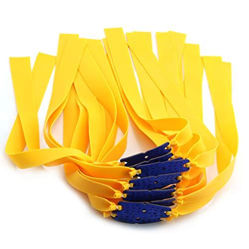 DZS Elec 24pcs Folding Yellow Flat Elastic Band 0.75mm Thickness...