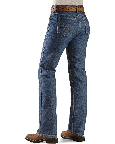 Wrangler Riggs Workwear womens Fr Flame Resistant Western Mid Rise Boot Cut jeans, Blue Stone, 5x34 US