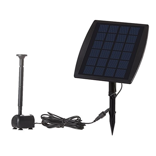 Anself Solar Fountain Pump, 9V 2.5W Solar Power Panel Water Pump for Birdbath Landscape Pool Garden Fountains Decorative