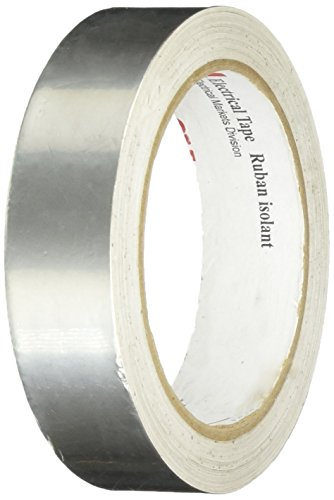 3M 1183 Silver Tin-Plated Copper Foil Tape - 0.5 in. x 18 yd. Roll, Conductive Acrylic Adhesive Tape for Grounding, EMI Shielding [1 Roll]