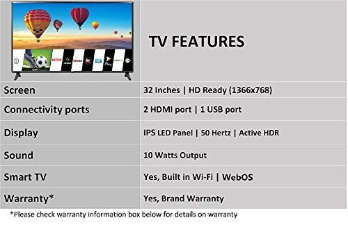 LG LED Smart TV specification