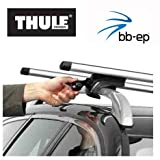Thule Premium Aluminium Dachträger / Lastenträger Set mit neuer WingBar Traverse für MERCEDES BENZ GLK - 5 Türer SUV ab Baujahr 2008 bis heute - mit normale (hochstehender) Dachreling...