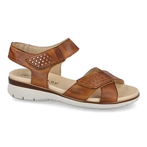 Sandalias Planas para Mujer Pitillos 2031 Cuero-Oro - Color - Cuero, Talla - 38