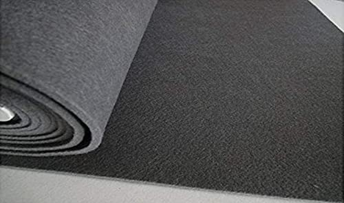 STOFFBOOK Fieltro para manualidades de 5 mm de grosor (gris, 50 x 45 cm)