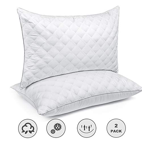 SORMAG Bed Pillows for Sleeping Set of 2, Queen Size 20 x 30 Inches, Luxury Hotel Collection Gel Pillows 2 Pack, Hypoallergenic Pillow for Side and Back Sleeper