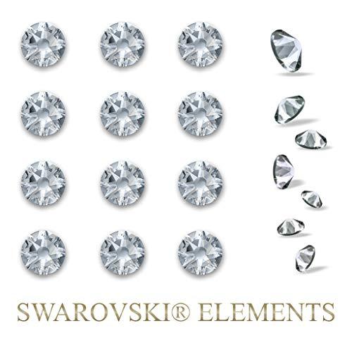 Exklusivpro 12 Swarovski Elements Kristalle (6.4mm) selbstklebend zum dekorieren (z.B. Wandtattoos, Laptop u.v.m.)